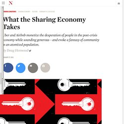 What the Sharing Economy Takes