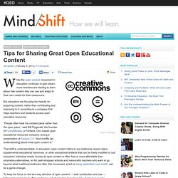 Tips for Sharing Great Open Educational Content