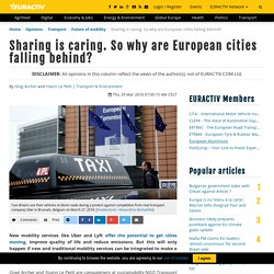 Sharing is caring. So why are European cities falling behind?