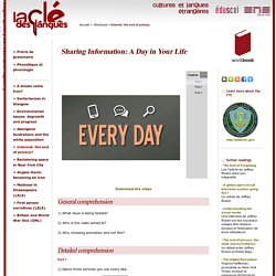 Sharing Information: A Day in Your Life