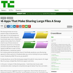 16 Apps That Make Sharing Large Files A Snap