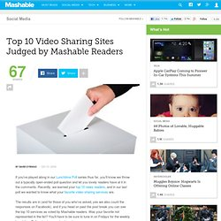 Top 10 Video Sharing Sites Judged by Mashable Readers