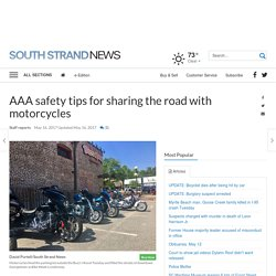 AAA safety tips for sharing the road with motorcycles