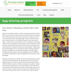 Egg-sharing programs are Available