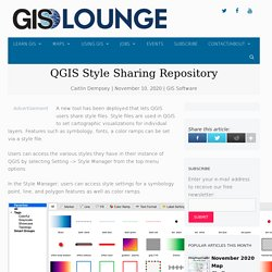 QGIS Style Sharing Repository - GIS Lounge