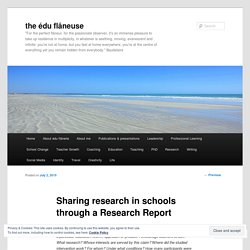 Sharing research in schools through a Research Report