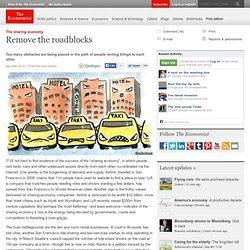 The sharing economy: Remove the roadblocks