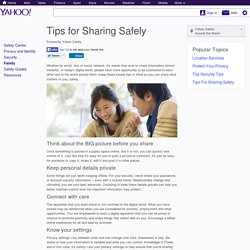 Tips for Sharing Safely - YahooSafetySG