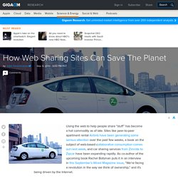 How Web Sharing Sites Can Save The Planet