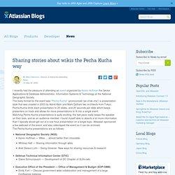 Sharing stories about wikis the Pecha Kucha way