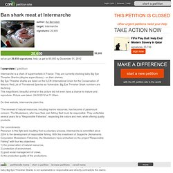 Ban shark meat at Intermarche