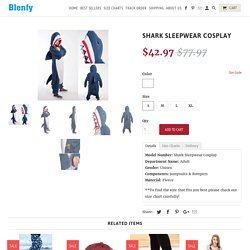 Shark Sleepwear Cosplay - Blenfy Store