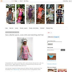 Sharon Sews: Sew a Barbie apron, oven mitt and matching chef hat