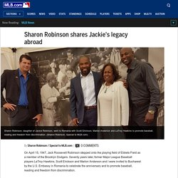 [Sports Envoy] Sharon Robinson shares father's legacy abroad