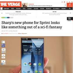 Sharp's new phone for Sprint looks like something out of a sci-fi fantasy