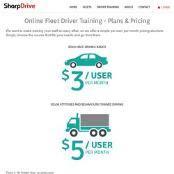 Online Fleet Driver Training