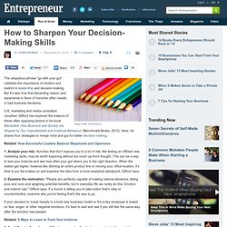 How to Sharpen Your Decision-Making Skills