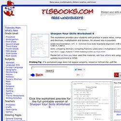 ... worksheet!Printable Math Worksheets. Fifth Grade Math Worksheets