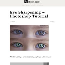 Eye Sharpening - Photoshop Tutorial