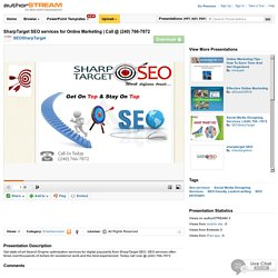 Sharptarget SEO Services for Online Marketing