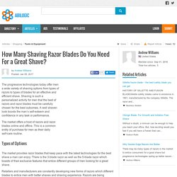 How Many Shaving Razor Blades Do You Need For a Great Shave?