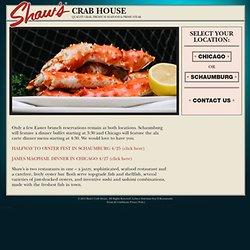 Shaw's Crab House » Menus