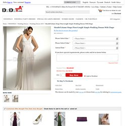Sheath/Column Straps Floor-Length Simple Wedding Dresses With Drape