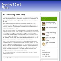 Shed Building Made Easy