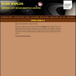 Alien Worlds: Shedding light on our unearthly universe