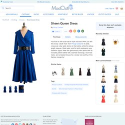 Sheen Queen Dress | Mod Retro Vintage Solid Dresses