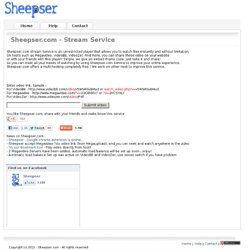 Sheepser.com - Skip VideoBB, Megavideo and VideoZer Time limit