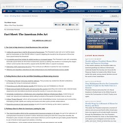 Fact Sheet: The American Jobs Act