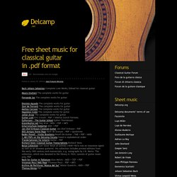 Free sheet music for classical guitar in .pdf format