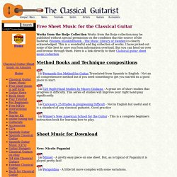Free Sheet Music For the Classical Guitar