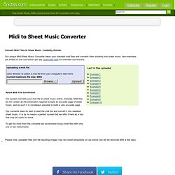 Midi to Sheet music converter