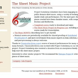 The Sheet Music Project