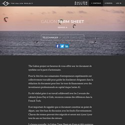 Term Sheet Series A - The Galion Project