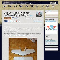 One Sheet and Two Sheet No-Waste Flying Wings