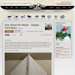 One Sheet No Waste - Simple Fold Delta