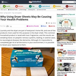 Are Dryer Sheets Toxic for Our Health?