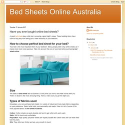 Bed Sheets Online Australia: Have you ever bought online bed sheets?