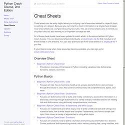 Cheat Sheets - Python Crash Course, 2nd Edition