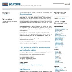 Chemdex | The Sheffield Chemdex: the directory of chemistry on the WWW since 1993