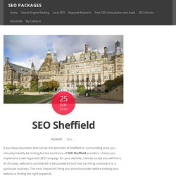 SEO Sheffield from SEO expert with 8 years of experience