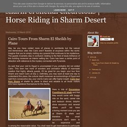 Horse Riding in Sharm Desert: Cairo Tours From Sharm El Sheikh by Plane