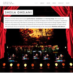 Welcome - Sheila Ghelani