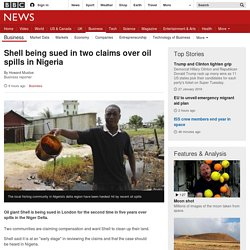 Shell being sued in two claims over oil spills in Nigeria