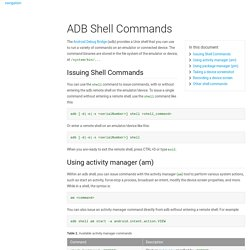 ADB Shell Commands