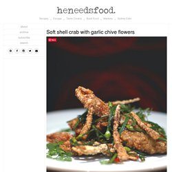 Soft shell crab with garlic chive flowers