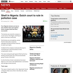 Shell in Nigeria: Dutch court to rule in pollution case